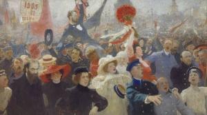 """Манифестация 17 октября 1905 года """" Репин Илья"""
