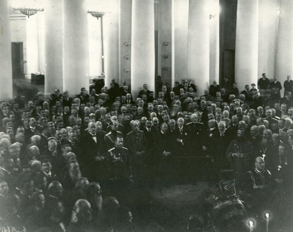 Молебен по случаю посещения Четвертой Государственной думы императором Николаем II. 9 февраля 1916