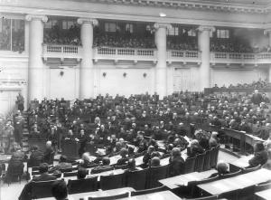 Заседание Четвертой Государственной думы в Таврическом дворце (часть зала заседаний)