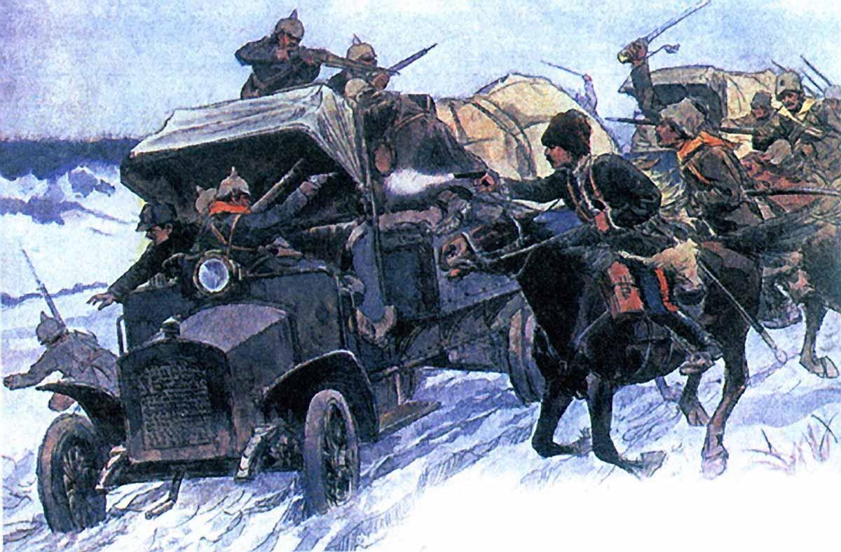 «Захват германских автомобилей. Автор: Владимиров И.»