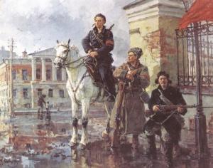 Г. Савицкий «Первые дни Октября». 1949.
