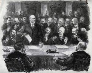Заседание Временного комитета Государственной Думы 28 февраля 1917 года. Литография. РГАСПИ
