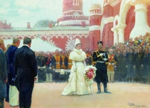 Речь Его императорского Величества волостным старшинам и представителям сельского населения окраин России во дворе Петровского дворца 18 мая 1896 года. Илья Ефимович Репин