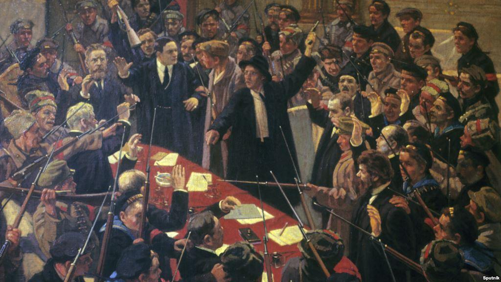 М. Соколов. Арест Временного правительства. Петроград. 1917 год