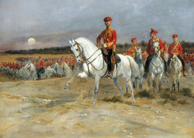 Детайль, Жан Батист Эдуард. Смотр войск Николаем II