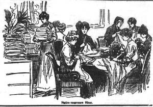 Неделя солдатского белья. Петербург 1914 года в рисунках городских газет.