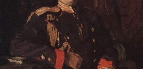В.А Серов. Портрет великого князя Георгия Михайловича, 1901.