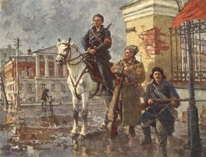 Первые дни Октября. Г. Савицкий 1949 г.
