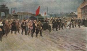 «Февральские дни на рабочих окраинах». Художник И.А. Владимиров, 1934 г.