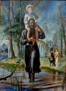 Михаил Кудреватый. В Царском Селе ( х/м, 150 x 110, 1990 год)