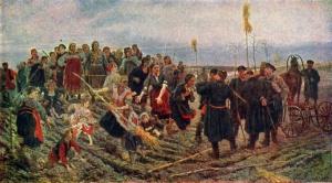 К А Савицкий (1844-1905) Спор на меже. 1897.