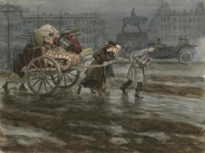 Переезд выселенной семьи (1918). Иван Алексеевич Владимиров (1869 — 1947)