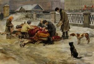 Разделка павшей лошади (1919). Иван Алексеевич Владимиров (1869 — 1947)