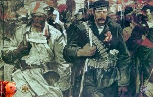 Октябрь. Холст, масло. 180х285. 1967. Алексеев Адольф Евгеньевич (1934-2000)