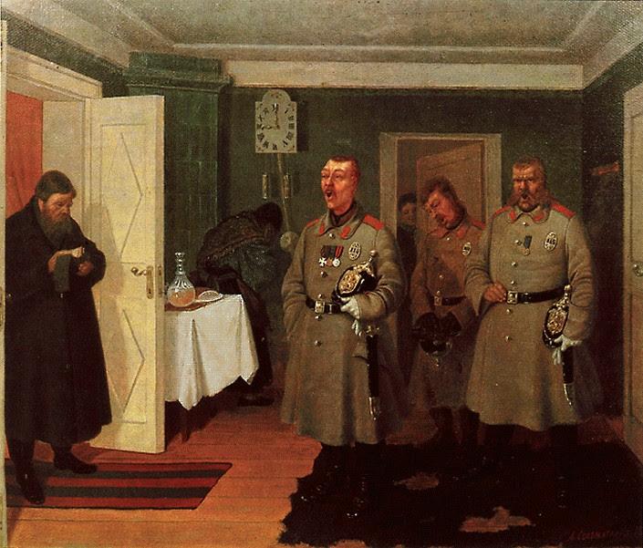 Леонид Соломаткин. «Славильщики-городовые». 1864 г.