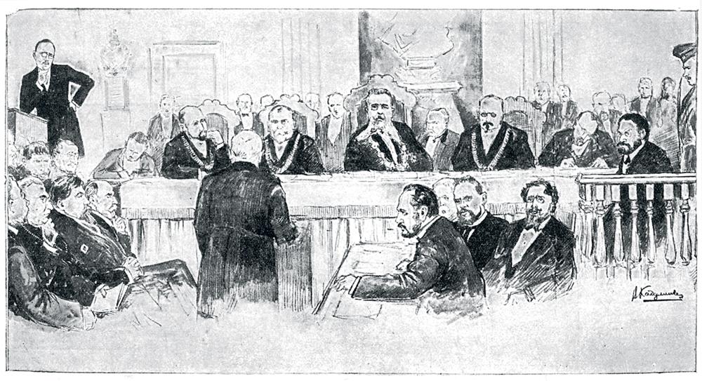 Владимир Кадулин. Общая картина заседания суда. (дело Бейлиса)