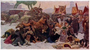 Художник Е.А. Сорокин, «Кровавое воскресенье (9 января 1905 года)».