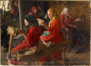Иван Семенович Куликов. «Пряхи», 1903 г