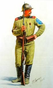 Ударник Корниловского полка. Андрей Каращук для журнала Мировые войны
