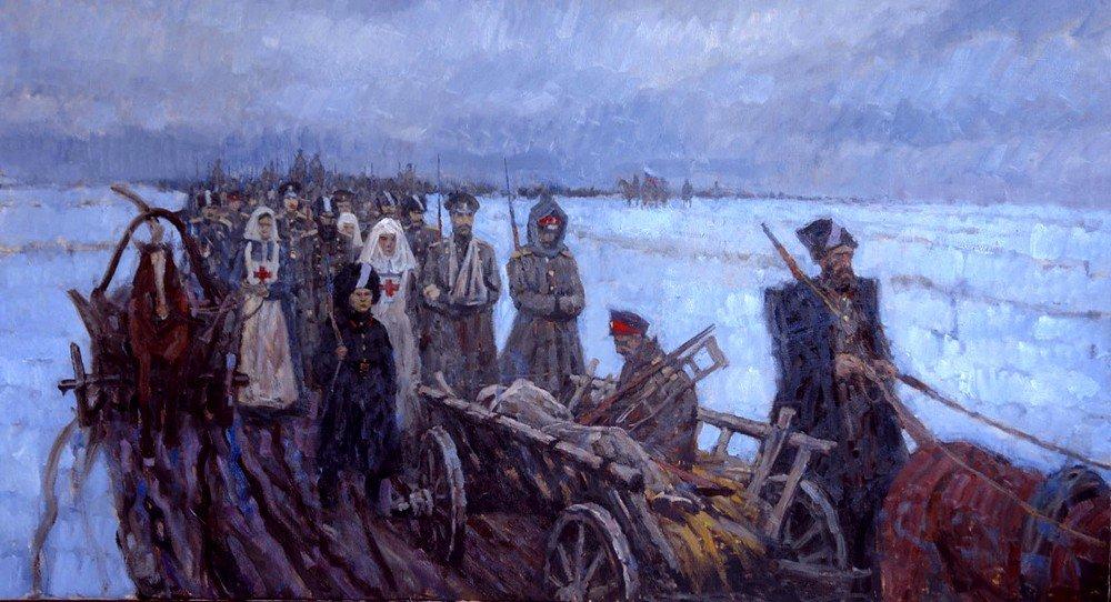 Ледяной поход. Худ. Дмитрий Шмарин