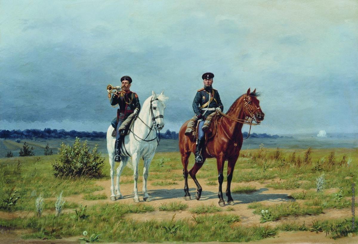 Трубач и офицер гвардейской конной артиллерии периода 1882–1906 годов. БУНИН НАРКИЗ НИКОЛАЕВИЧ