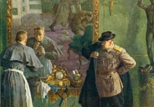 Кукрыниксы *Последний выход Керенского* (1957 год).