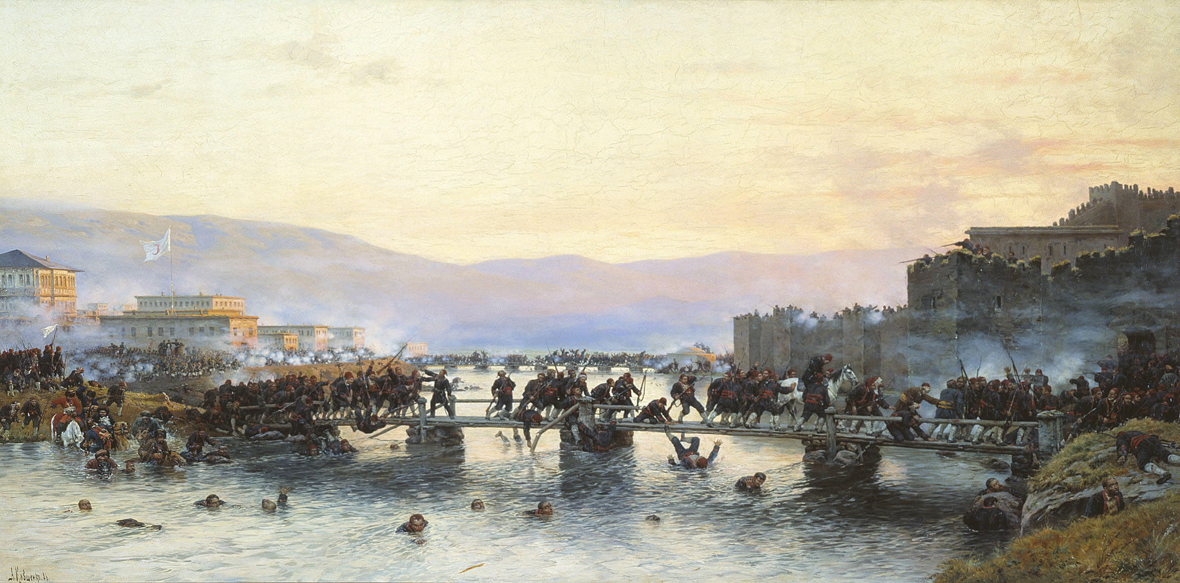 Алексей Кившенко. Штурм крепости Ардаган 5 мая 1877 года.
