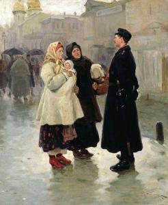 Встреча с земляком. Пимоненко Николай Корнилович. 1908г.