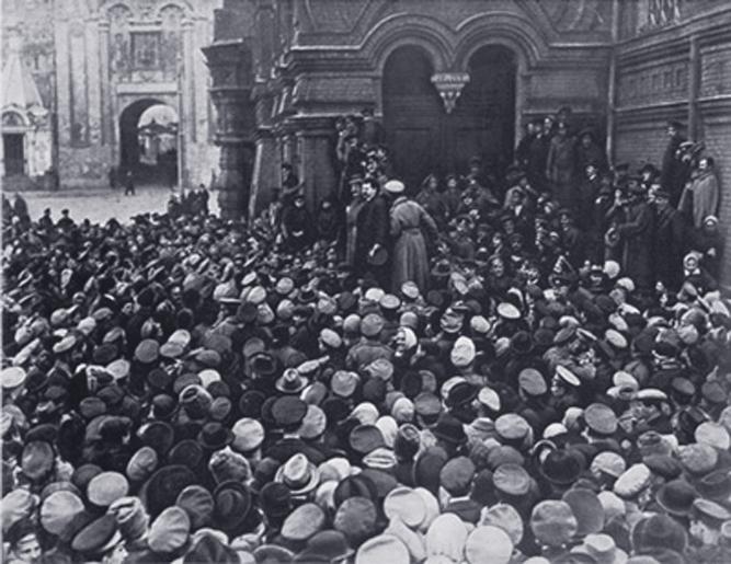 Митинг возле Исторического музея 28 февраля 1917 г.Повседневная жизнь Москвы. Очерки городского быта в период Первой мировой войны.