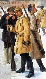 """И. Г. Дроздов, """"Первые красноармейцы. 1918 год"""" 1924 г."""