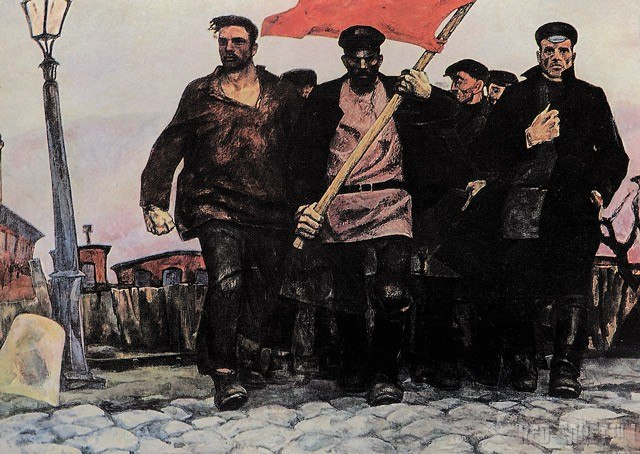 "Картина ""1905 год"" художника В. Маневского"