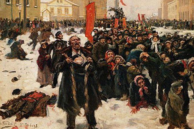 Картина Владимира Маковского «9 января 1905 г. на Васильевском острове».