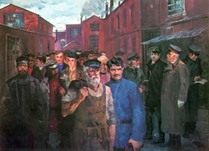 В. В. Руднев. На старом Тульском оружейном заводе. 1974 г. Холст, масло. 150×200