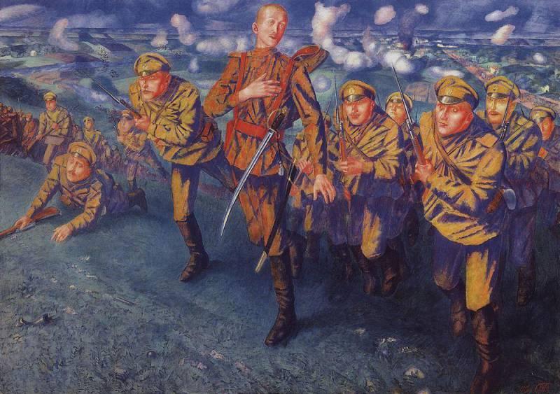 ПЕТРОВ-ВОДКИН К.С. На линии огня. 1916.