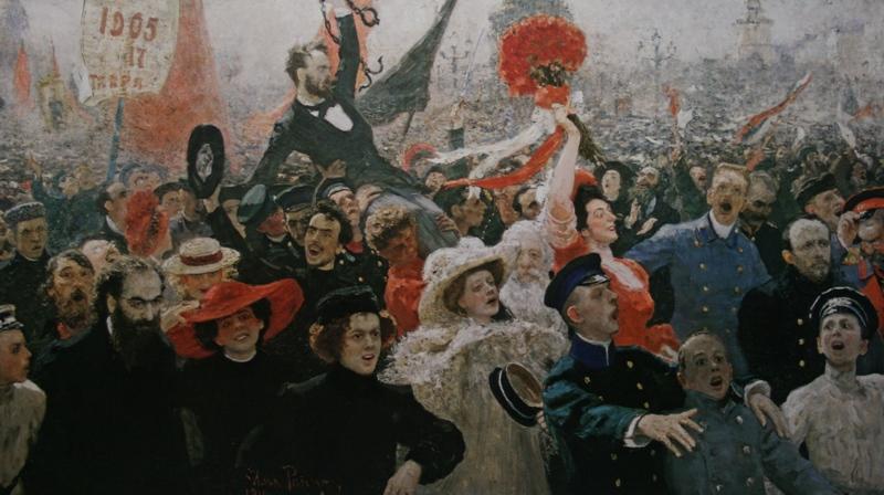 Репин Илья «17 октября 1905 года» 1907 Холст, масло 184х323 Государственный Русский музей