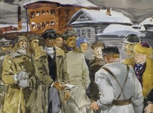 Морозовская стачка. В.Федоров. 1977
