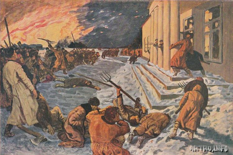 """Г. Н. Горелов """"Нападение крестьян на помещичью усадьбу в 1905 году"""""""