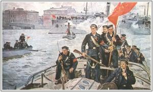 Мы из Кронштадта. 1917 г., Худ. О. Гадалов