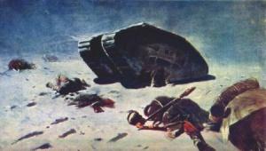 М. Греков. Отбитый у деникинцев английский танк. 1924