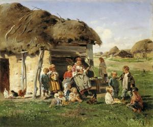 Владимир Егорович Маковский. Крестьянские дети. 1890.