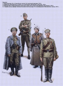Русская армия в 1-й мировой войне - Пехота. Иллюстрации Андрея Каращука