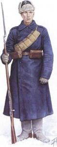 Стрелок Морского учебного полка в начале Сибирского Ледяного похода. Ноябрь 1919 г.