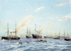 А. К. Беггров (1841–1914). Корабли, построенные в 1883–1896 годах на Балтийском судостроительном и механическом заводе в Санкт-Петербурге корабельным инженером Н. Е. Титовым.