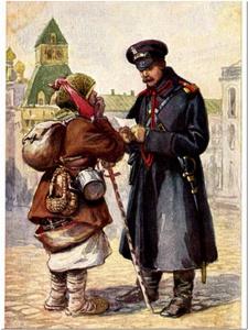 Художник Николай Богатов. Типы Москвы. Городовой. 1875 год