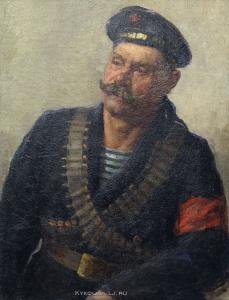 "Бучкин Петр Дмитриевич (1886—1965) ""Портрет революционного матроса."