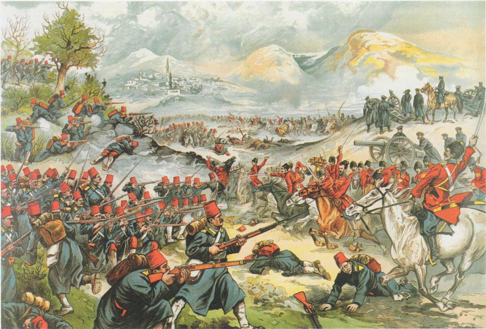 Разгром турецкой армии под Саракамышем. Военный лубок, 1915