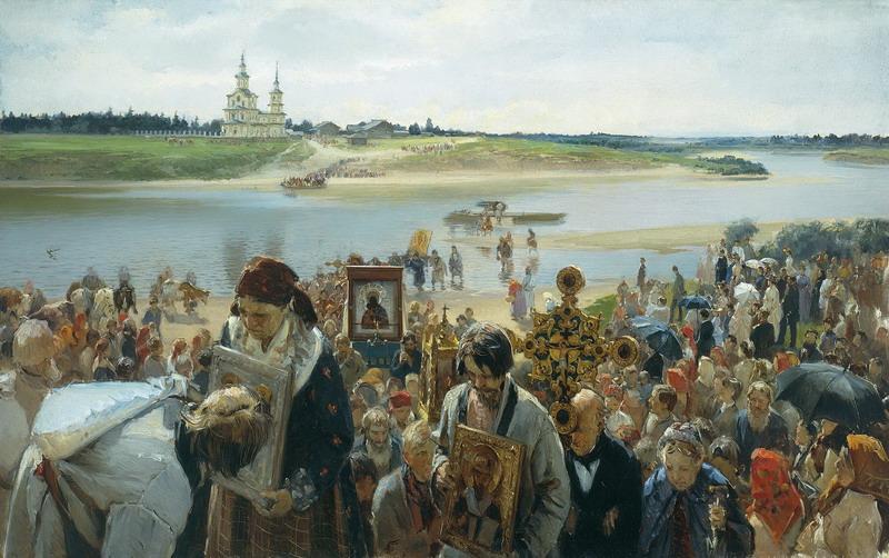 Крестный ход. Илларион Михайлович Прянишников. Год 1893. Русский музей