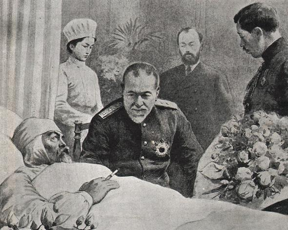 Адмирал Того посещает вице-адмирала З.П. Рожественского в госпитале. Источник