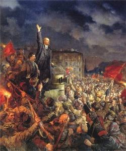 В. Серов. Да здравствует Октябрьская революция!