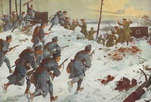 С.Ф. Бауэр. Захват русской артиллерии